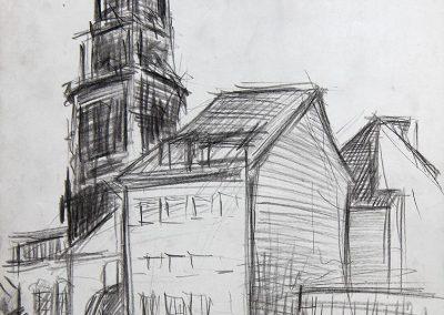 Haus mit Dreikönigskirche Dresden