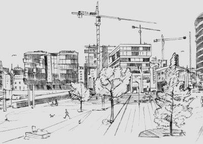 Fiktive Baulandschaft